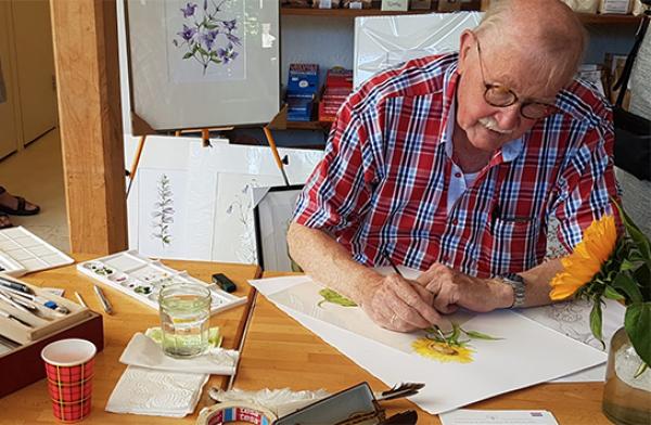 Demonstratie: Botanisch tekenen op zaal door botanisch kunstenaar Dick Smit.