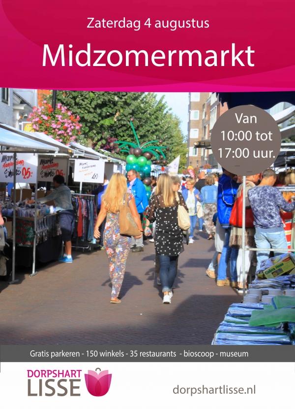 Midzomermarkt in Dorpshart Lisse