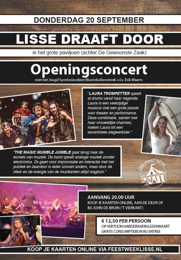 Feestweek Lisse Draaft Door Openingsconcert